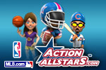 Play sports games and compete against the pros in Action AllStars!