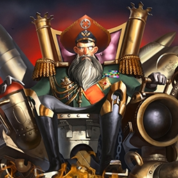 Admiral Nemo - Protect the empire.  Rebuild the capital city.  Reclaim our former glory.  Commander, it's up to you in the steampunk arcade game Admiral Nemo! - logo