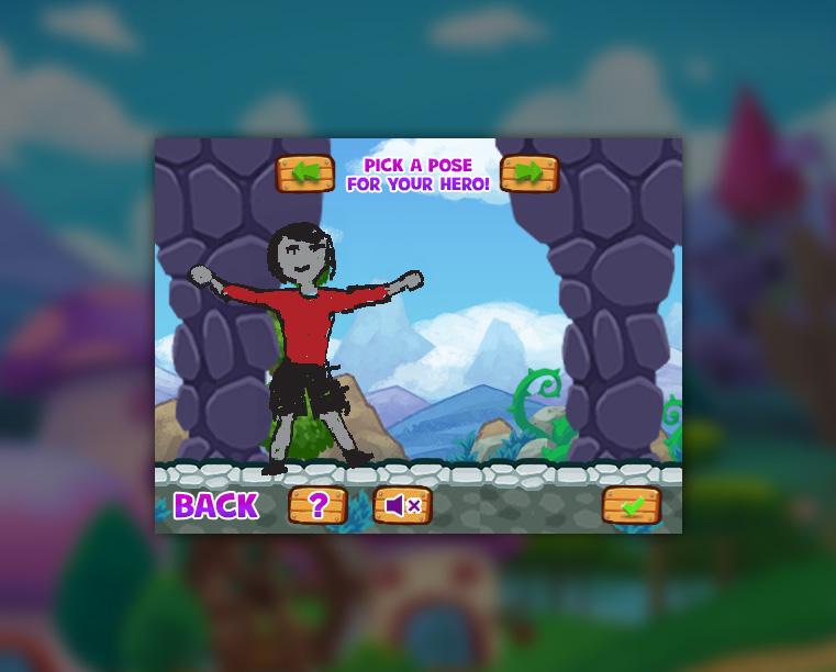 Adventure Sketchers Create-a-Hero screen shot