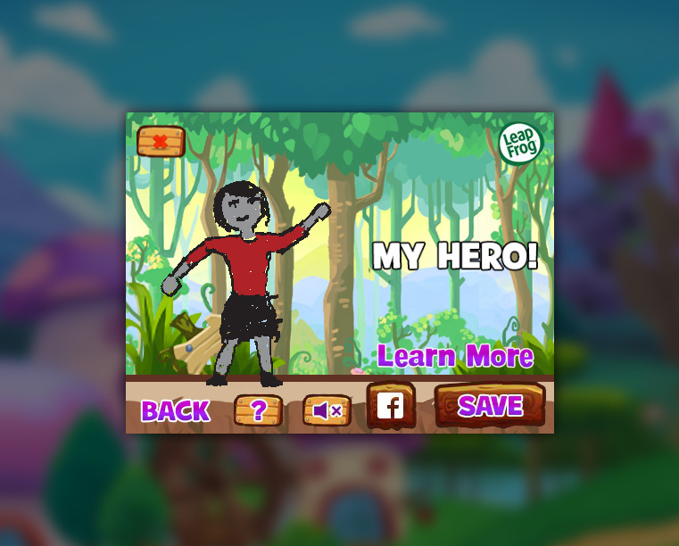 Adventure Sketchers Create-a-Hero screen shot