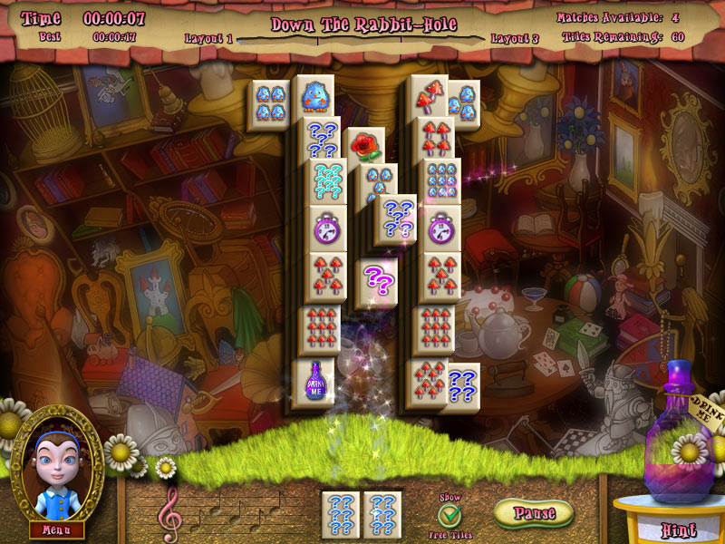 Alice's Magical Mahjong screen shot