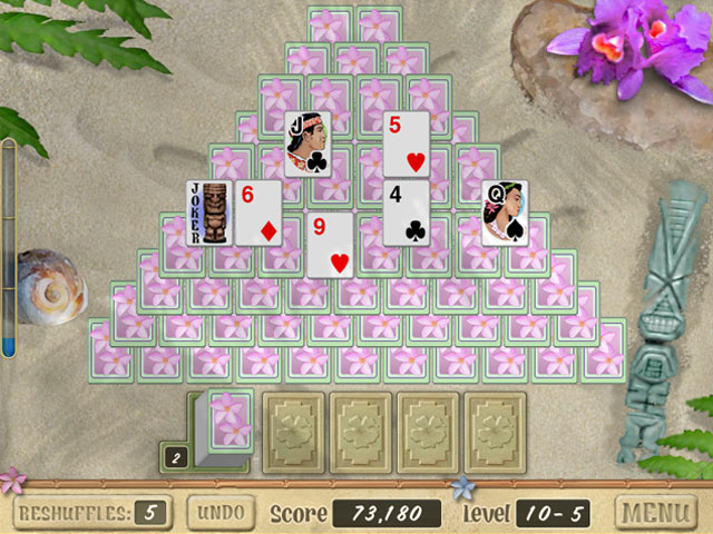 Aloha Solitaire screen shot