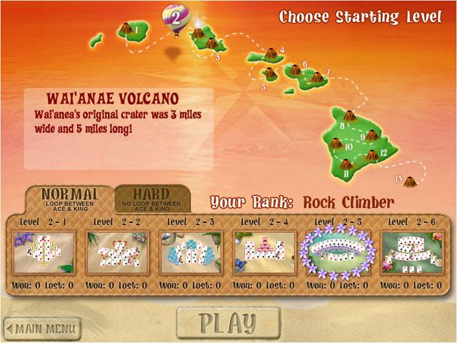 tripeaks aloha gamehouse play free