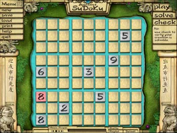 Ancient Sudoku screen shot