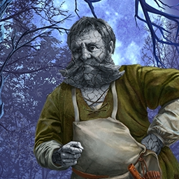 A Wizard's Curse - The Wizard is clever and driven... and now walks a dark path in this hidden object game.  Are you up to the challenge of breaking A Wizard's Curse? - logo