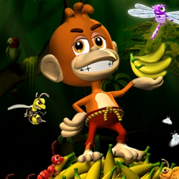 Banana Bugs (TM) - Zap hordes of hungry bugs to save the village food supply in Banana Bugs™! - logo
