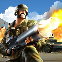 Battlefield Heroes - Will your team dominate?  Battlefield Heroes is a free-to-play, 3rd person cartoon shooter with over 7 million registered users! - logo