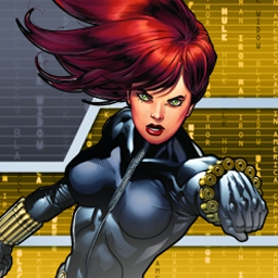 The Black Widow - Famed S.H.I.E.L.D. master spy Black Widow must use all her ability to defeat A.I.M.! - logo