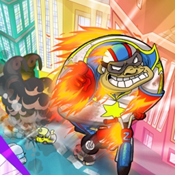 Bobby Nutcase Moto Jumping - Help Bobby Nutcase jump an entire city on his motorcycle to woo the girl of his dreams--play FREE now! - logo