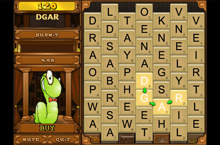 Cash Tournaments - Bookworm screen shot