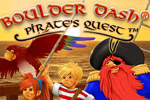 Lead your pirate crew to recover treasure in Boulder Dash - Pirate's Quest!