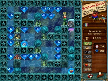 Boulder Dash - Pirates Quest screen shot