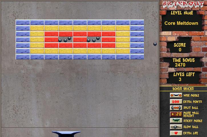 Cash Tournaments - Brickout screen shot