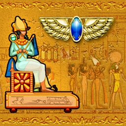 Brickshooter Egypt - Unlock secrets of the Pharaohs in 60 enchanting levels! - logo