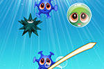 Cute sea creatures need your help in Bubble X Slice!  Slice the bubbles to pop them and release the animals trapped inside!