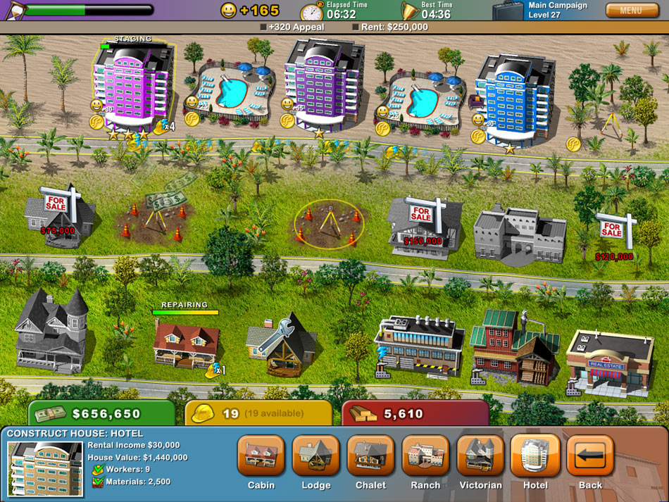 Build-a-lot: On Vacation screen shot