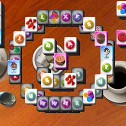 Cafe Mahjongg - Match tiles to earn your favorite distinct coffees from around the world. - logo
