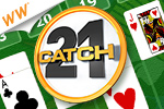 Speed through the deck, making as many 21's as you can! Play the Cash Tournament edition of Catch-21 today!