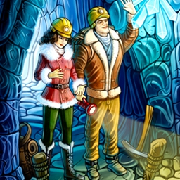 Cave Quest - Gather helpful items by completing Match-3 levels and use them on your adventure. Save the heroine's family in Cave Quest! - logo
