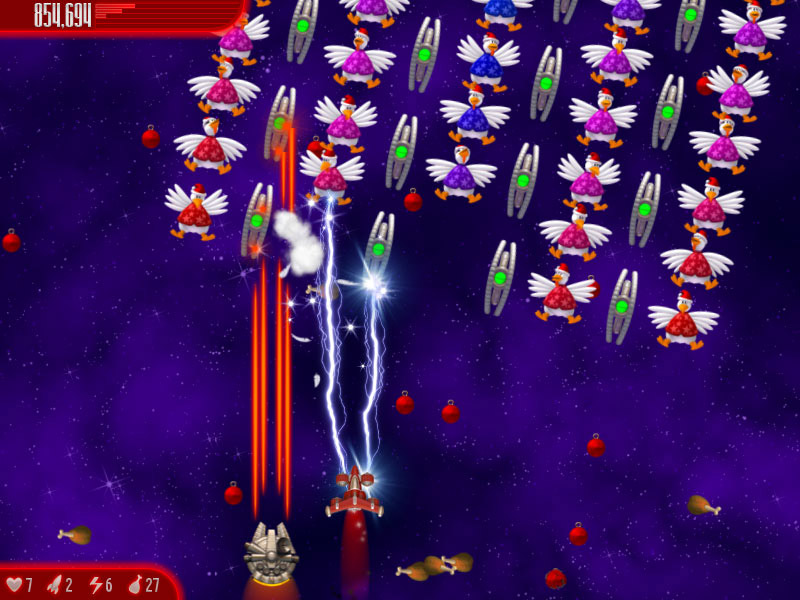 Chicken Invaders 4 Ultimate Omelette Christmas Edition screen shot
