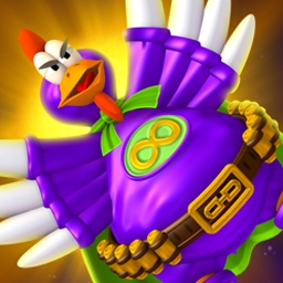 "Chicken Invaders 4: Ultimate Omelette - Save Earth from ""fowl play"" in Chicken Invaders 4: Ultimate Omelette! - logo"