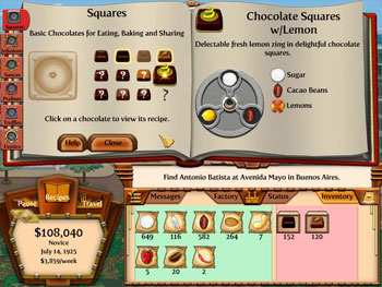 Chocolatier 2 - Secret Ingredients screen shot