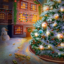 Christmas Mahjong - Collect tons of gifts on Christmas night as you complete 100 unique Mahjong levels in 6 locations. Play Christmas Mahjong today! - logo