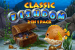 Complete addictive match-3 levels and create your dream aquarium!  The Classic Fishdom 2 in 1 Pack includes Fishdom and Fishdom 2!