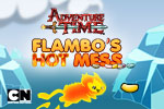Can you handle the heat? Grab jelly beans and escape before the level burns up in Flambo's Hot Mess, an Adventure Time game.