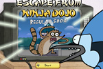Screenshot of Regular Show: Escape from Ninja Dojo