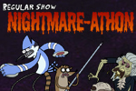 The Nightmare-athon has begun! Real zombies have attacked a screening of Zombocalypse 3D and it's up to Mordecai and Ribgy to protect the audience.