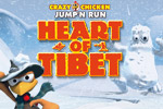 Jump, climb, and fight with your fists and gun through diverse landscapes, collecting gold, in Crazy Chicken: Heart of Tibet!