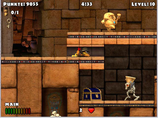 Crazy Chicken - The Winged Pharaoh screen shot