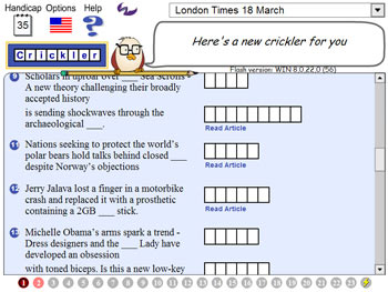 Crickler Crosswords screen shot