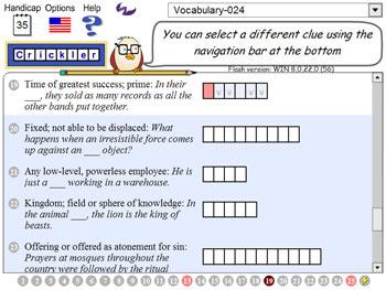 Crickler Crosswords screen shot