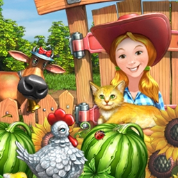 Crop Busters - Slip on your overalls and bring in a harvest of fun in Crop Busters, a rousing match-3 adventure for the farmer in everyone! - logo