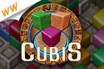 Clear the colored cubes to conquer the competition!  It's Cubis - a cash game!