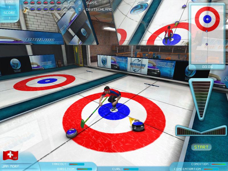 Curling screen shot