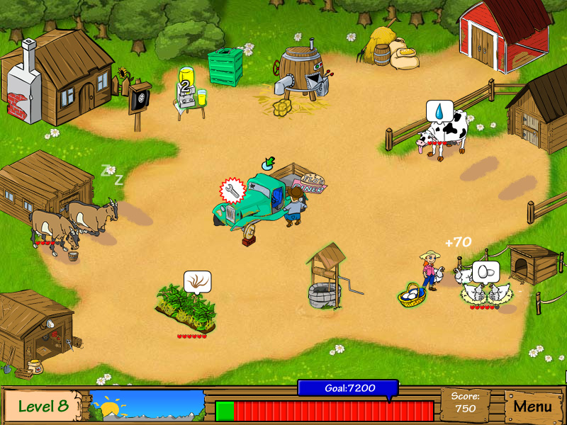 Dairy Dash screen shot