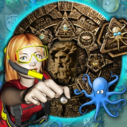 Deep Blue Sea - Hold your breath and dive into a treasure-filled world with 130 levels. - logo