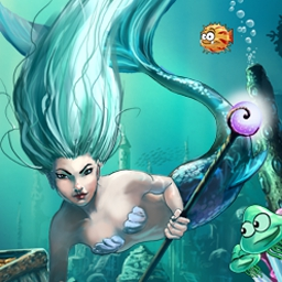 Deep Blue Sea 2 - The Amulet of Light - Match 3 is reinvented in Deep Blue Sea 2, a relaxing underwater quest! - logo