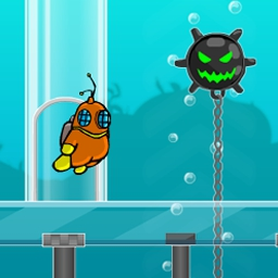 Deep Lift - In Deep Lift, run, jump, and swim from platform to platform, selecting the right power and angle before you jump to avoid falling. Play FREE! - logo