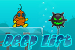 In Deep Lift, run, jump, and swim from platform to platform, selecting the right power and angle before you jump to avoid falling. Play FREE!