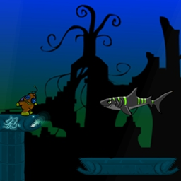Deep Lift 2 - Run and swim in Deep Lift 2, a FREE online game. Locate and retrieve underwater treasure! - logo