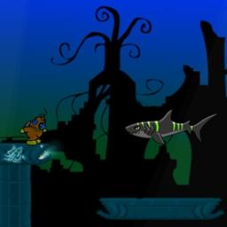Deep Lift 2 - Run and swim in Deep Lift 2, a FREE online game. Locate and retrieve underwater treasure! - logo