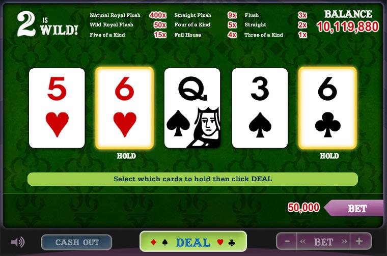 video poker deuces