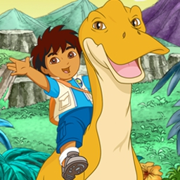 Diego's Dinosaur Adventure - Play 5 dinosaur themed mini-games and collect fossils for your journal. - logo
