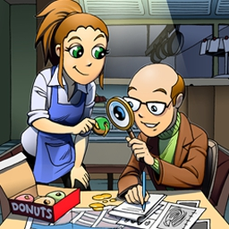 DinerTown Detective Agency - Solve 25 unique hidden object cases in DinerTown™ Detective Agency! - logo
