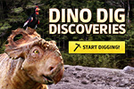 Break rocks, brush away dirt and unearth the fossils from the new Walking With Dinosaurs movie. Learn about dinos and get cool downloads!