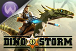 Saddle up your dinosaur in a world of ruthless bandits, gold mines and... laser guns. Be the most famous of heroes! Play Dino Storm online today!